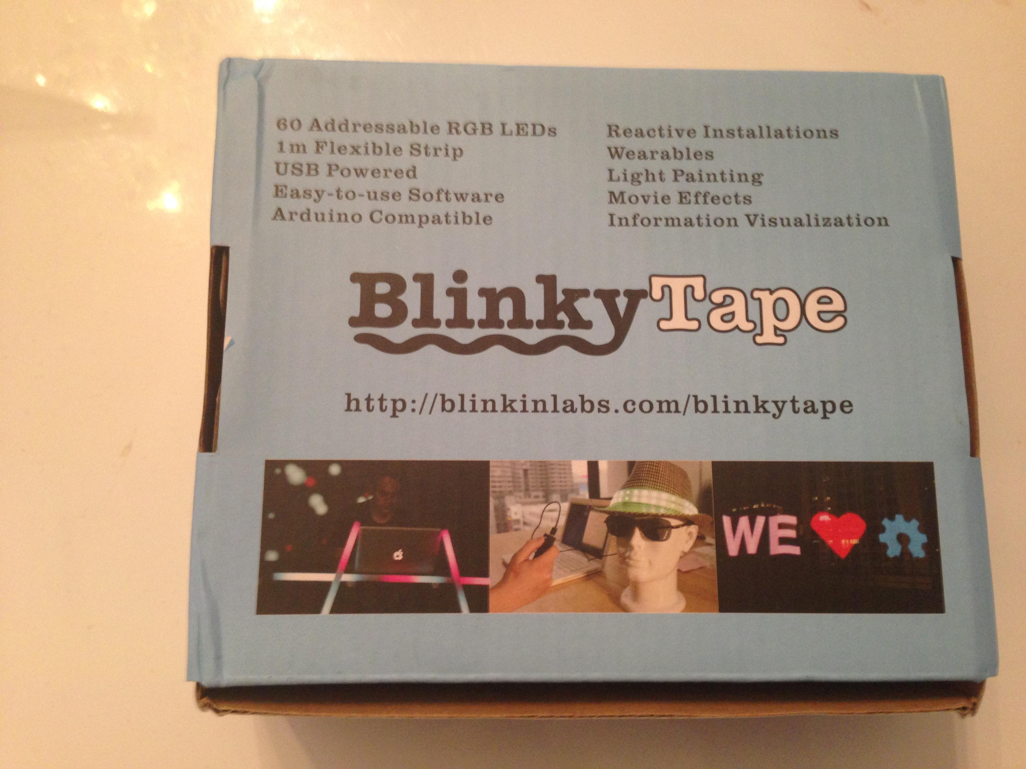 BlinkyTape box bottom side