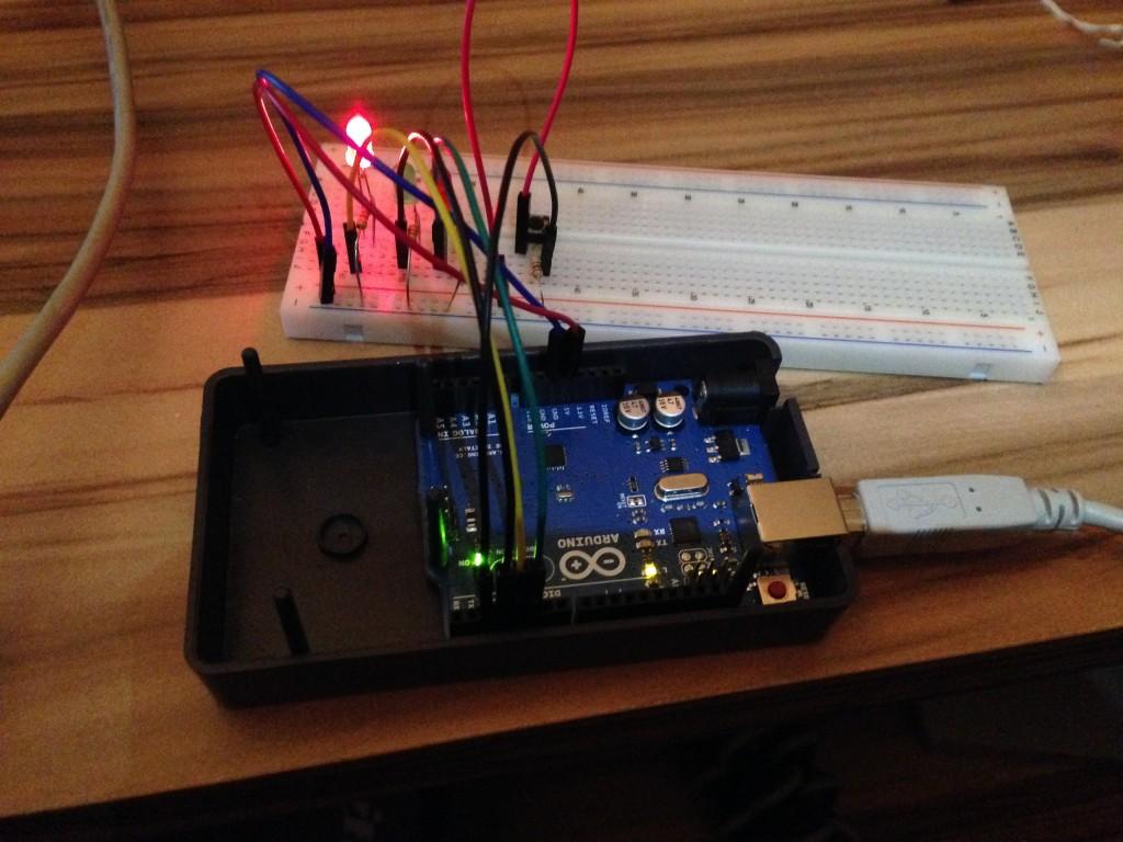 Arduino starterkit spaceship interface