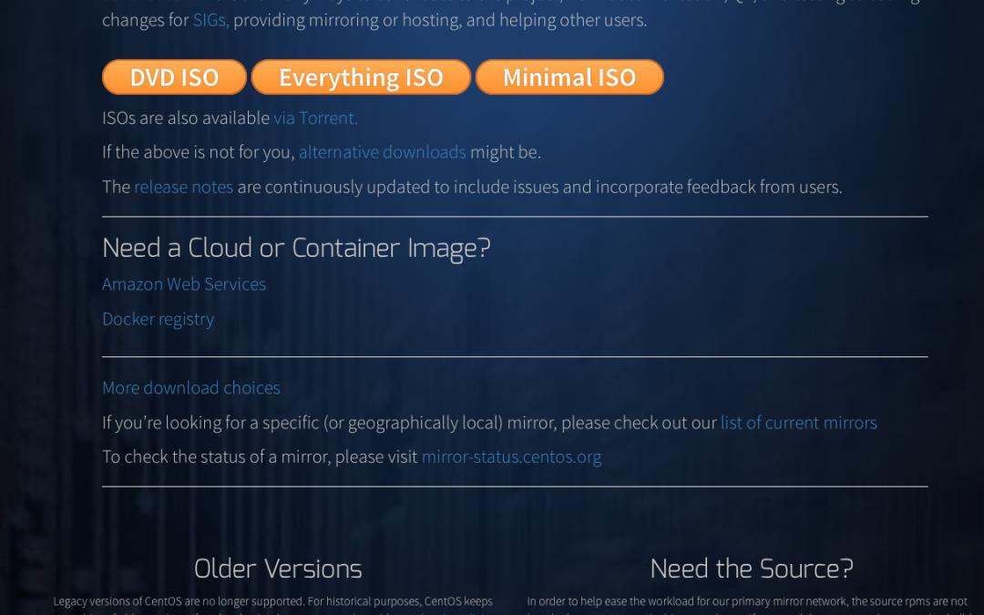 CentOS 7 minimal install