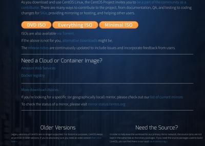 Download site of CentOS