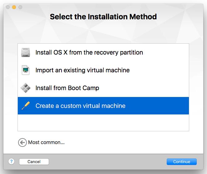VMWare Create a custom virtual machine